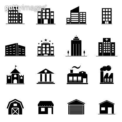 건물 아이콘 모음