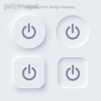Neumorphism buttons