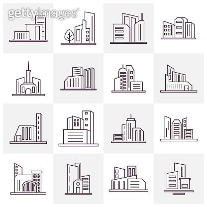 빌딩 아이콘 모음