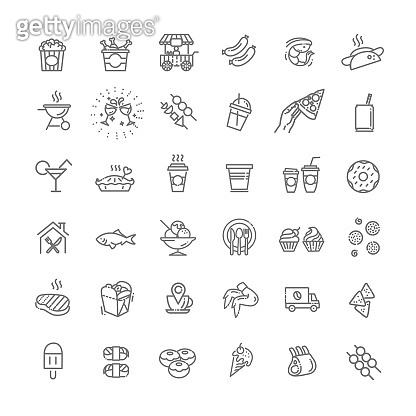 outline vector icon set