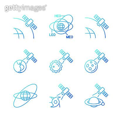 Gradation satellite icon