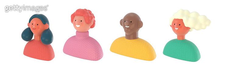 3D people portraits set