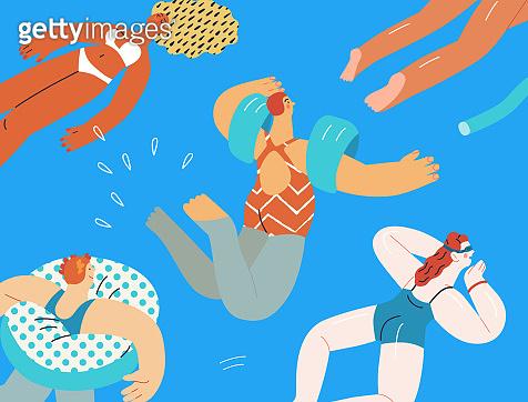 수영하는 사람들