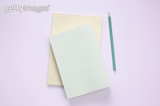 Flat lay book