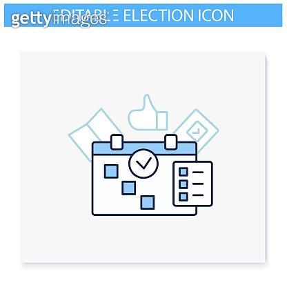 Election line icons set