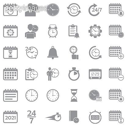 Gray Flat Icons