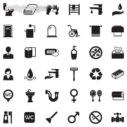 Black Flat Design Icon