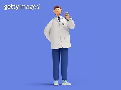 의사 3d 캐릭터