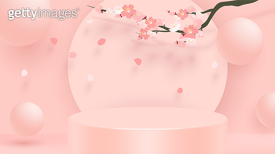 핑크 목업 백그라운드