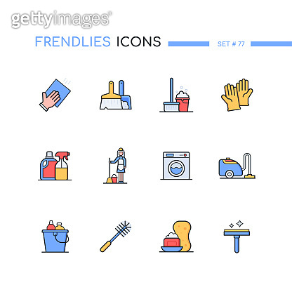 Modern line design style icons