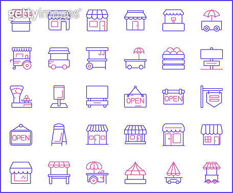 line style icons