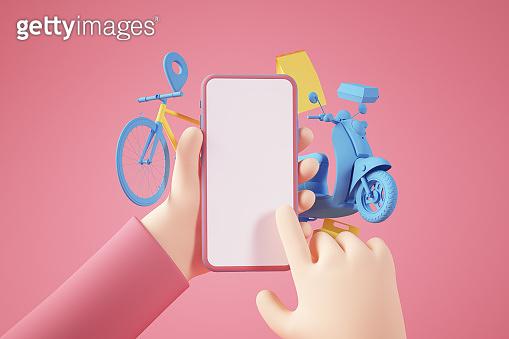 온라인 앱 컨셉 3D