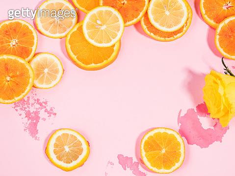 Summer vibe orange background