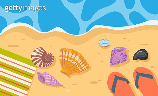 여름 바다 배경