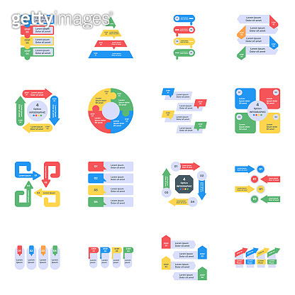 Flat Icons of Infographics