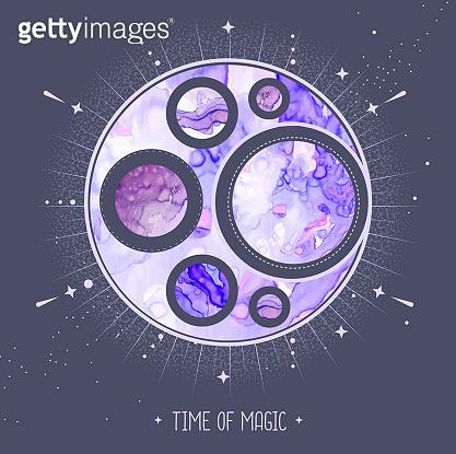 우주 컨셉 마법 카드