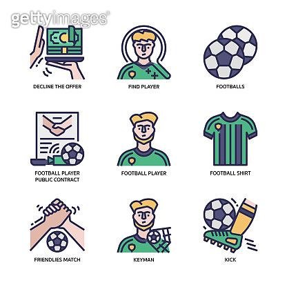 축구 관련 아이콘 세트