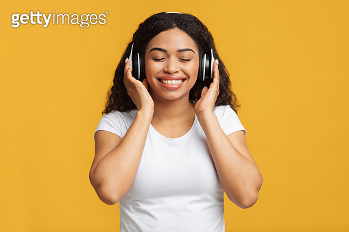 A lady using headset