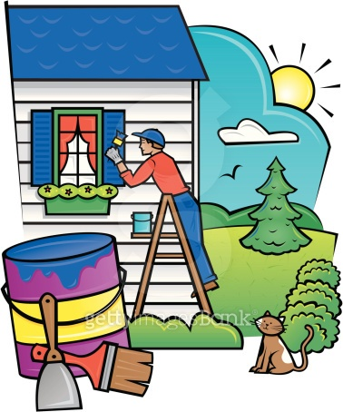 Man painting house Grouped Elements Color Illustrator Ver  5 Do it