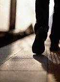 Walking Along a Train Platform