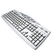 high angle view of a computer keyboard