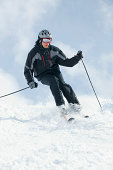 Man snow skiing