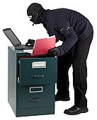 Secret agent spy uploading documents