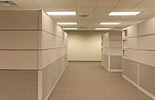 Office Cubicle Landscape - empty hallway