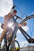 Person bike riding