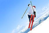 skiing big air stunt