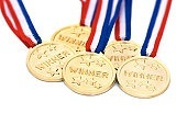 Five gold medals