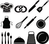 Baking and cooking icons