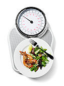 Healthy Food on Scales