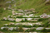 old stone steps in Ireland