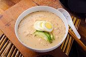 Noodle in Soy Bean Soup