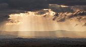 heavenly lights over Tuscany