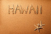 Hawaii sand writing