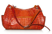 Handbag in crocodile leather