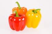 Bell peppers against white background