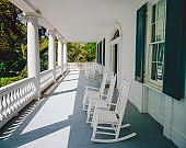 Front porch and rocking chairs (P)