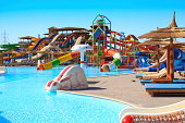 Water park and swimming pool