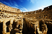 """""""inside of Colosseum in Rome, Italy"""""""