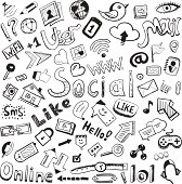 Vector social network doodles