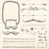 Hand-drawn vector doodles set