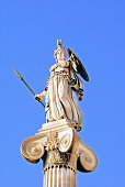"""Athena statue in the Academy of Athens ,Greece"""