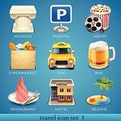Travel icon set-1