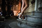 elegant high heel shoes