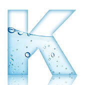 Water Bubble Letter K