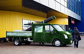 'Easigrass' truck covered in artificial grass