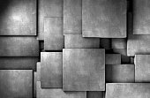abstract concrete blocks
